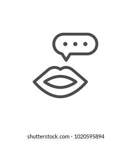 Talk line icon