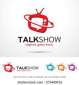Talk Show Logo Design Template