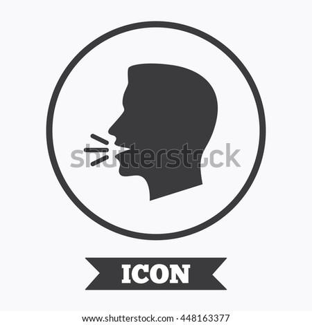 Talk Speak Icon Loud Noise Symbol Stock Vector Royalty Free