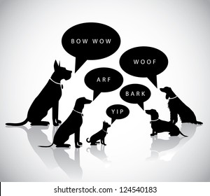 Talking Barking Dog Silhouettes