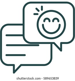 Talking Bubbles with Smiley Icon Illustration Isolated Vector Sign Symbol