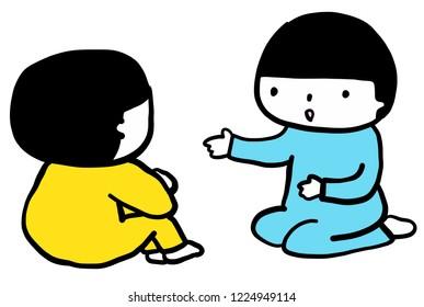 talking children ilustration