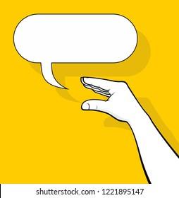 Talking hand balloon