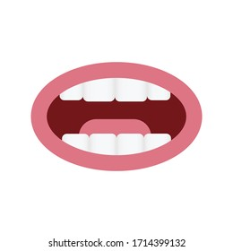 A talking mouth. Conversation. Vector illustration
