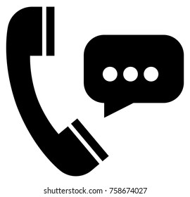 Talking on phone icon