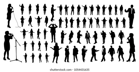 Talking people silhouettes