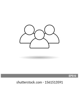 Talking people vector icon isolated with shadow on white background