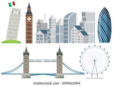 A Tall Building Landmark Element illustration