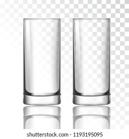 Tall glass on a transparent background vector illustration