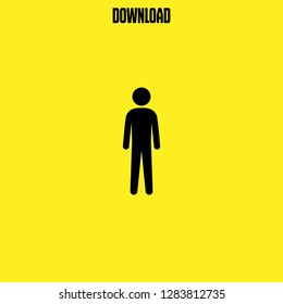 tall human silhouette icon vector. tall human silhouette vector graphic illustration