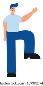 Tall man cartoon caracter illustration vector on white background