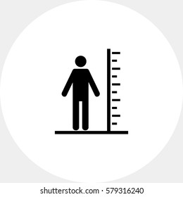 Tall Man with Scale Icon