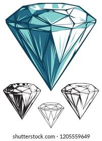 Tall and Shiny Diamond Gemstone