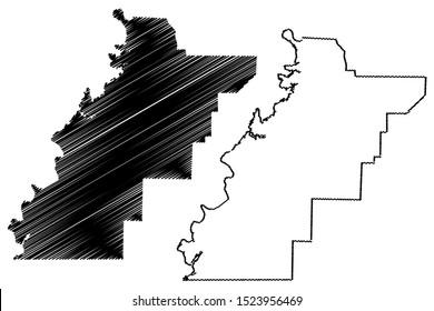 Talladega County, Alabama (Counties in Alabama, United States of America,USA, U.S., US) map vector illustration, scribble sketch Talladega map