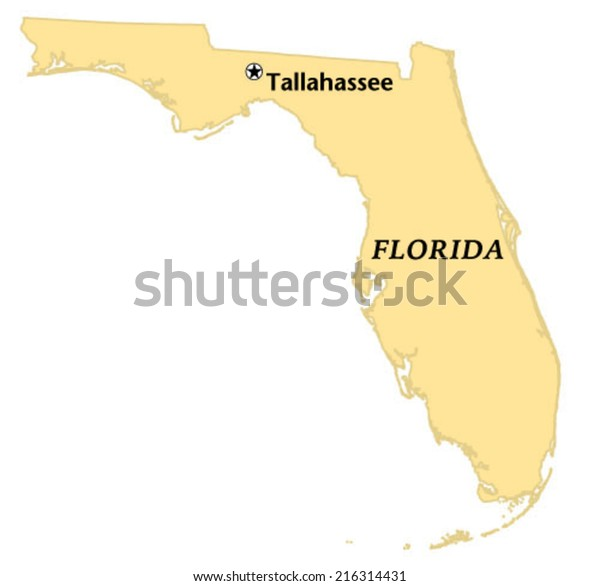 Tallahassee Florida Locate Map Stock Vector (Royalty Free) 216314431