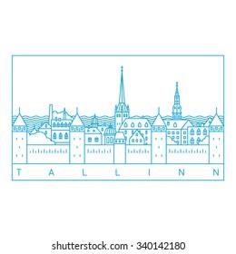 Tallinn line art landscape
