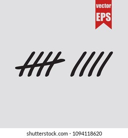 Tally counter icon in trendy isolated on grey background.Vector illustration.