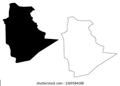 Carte Algeria Vector.Algerie Carte Images Stock Photos Vectors Shutterstock