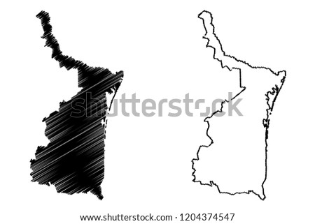 Tamaulipas United Mexican States Mexico Federal Stock Vector ...