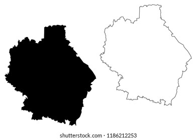Tambov Oblast (Russia, Subjects of the Russian Federation, Oblasts of Russia) map vector illustration, scribble sketch Tambov Oblast map