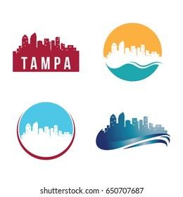 Tampa City Landscape Logo Template