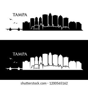 Tampa skyline - Florida - United States of America - USA - vector illustration
