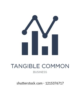 Tangible Common Equity Ratio icon. Trendy flat vector Tangible Common Equity Ratio icon on white background from business collection, vector illustration can be use for web and mobile, eps10