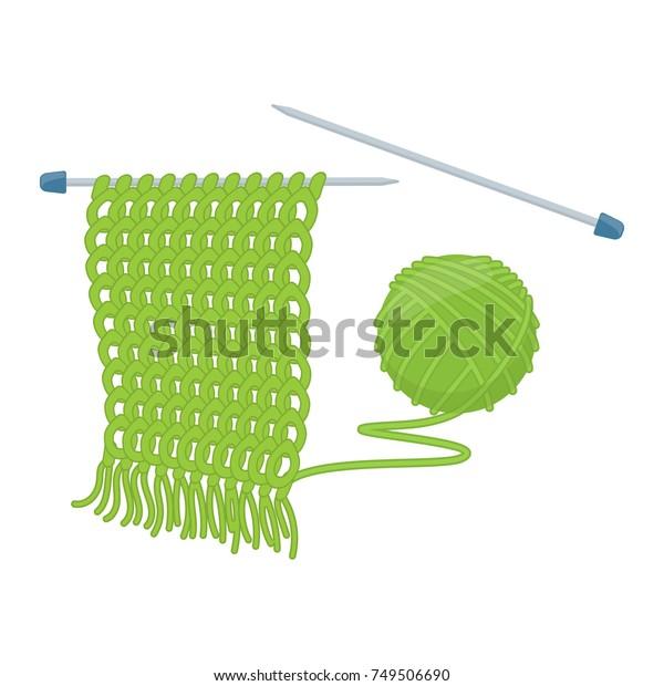 Tangle Yarn Knitting Needles Cartoon Illustration Stock Vector Royalty Free 749506690