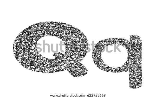 Tangle Yarn Letter Stock Vector Royalty Free 622928669