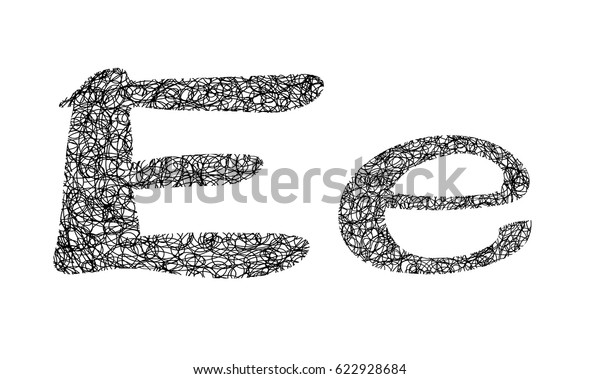 Tangle Yarn Letter Stock Vector Royalty Free 622928684