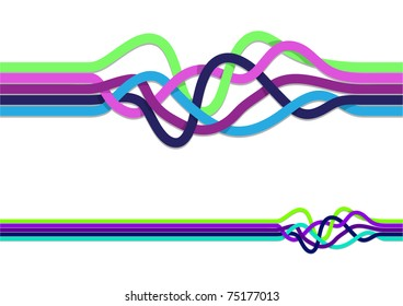Tangled color lines