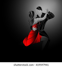 Tango black, red