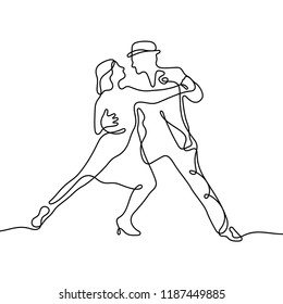 Tango continuous line illustration