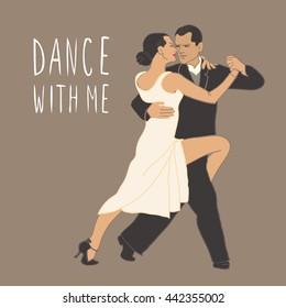 Tango. Dancing couple.