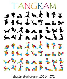 tangram figures and solutions