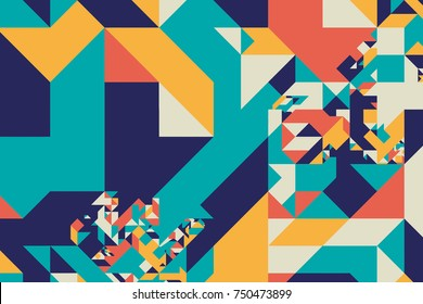 Tangram Graphic Pattern  - Abstract Vector Design
