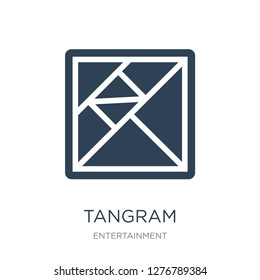 tangram icon vector on white background, tangram trendy filled icons from Entertainment collection, tangram vector illustration