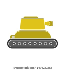 tank icon. flat illustration of tank vector icon. tank sign symbol