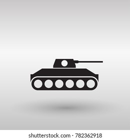 Tank icon in trendy flat style isolated on background. Tank icon Vector illustration, EPS10.