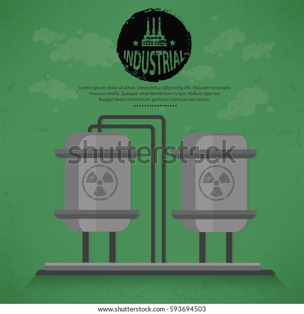 Tank industry concept design,vector