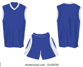 Tank top front and back  with shorts