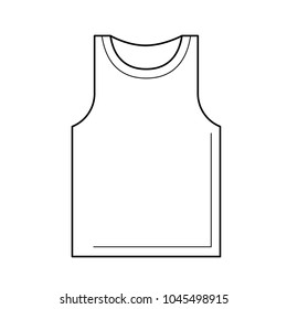 Tank top line icon isolated on white background. Vest vector illustration. Undershirt singlet line icon for infographic, website or app.