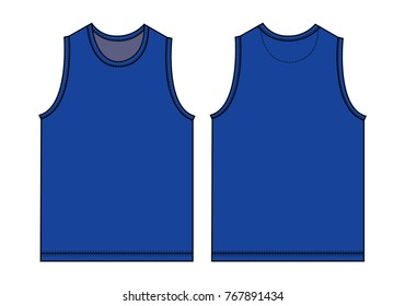 Tank top, sleeveless shirt illustration / blue