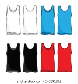 Tank Top Vector Template
