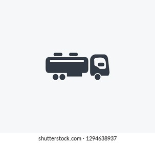 Tank truck icon isolated on clean background. Tank truck icon concept drawing icon in modern style. Vector illustration for your web mobile logo app UI design.