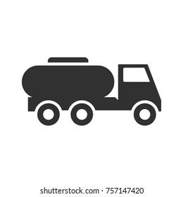 tank truck. monochrome icon