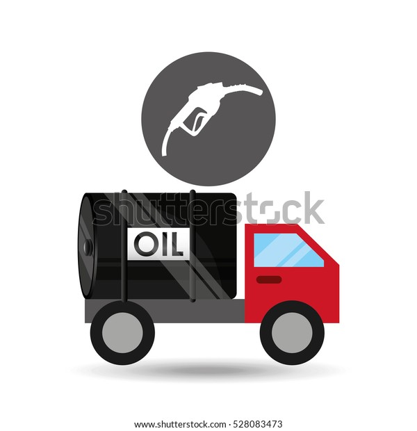 Tank Truck Oil Station Gas Vector Royalty Free Stock Image