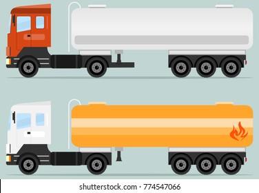 Tank truck, tanker icon. A realistic tank truck. Flat design, vector illustration, vector.