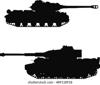 Tanks IS- 2 and Tiger I