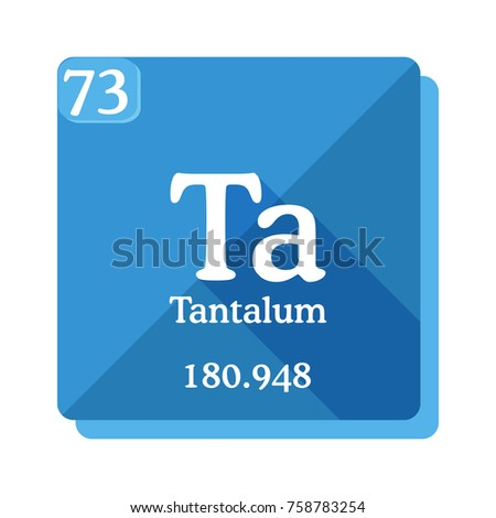 Tantalum Ta Element Periodic Table Vector Stock Vector Royalty Free